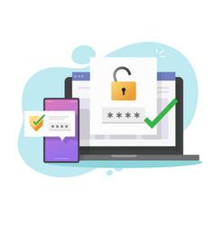 2fa authentication password secure notice login vector