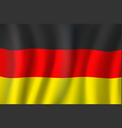 3d realistic wavy germany flag german symbol vector image