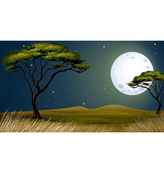 A tree and the bright fullmoon vector