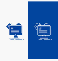 account profile report edit update line and glyph vector image