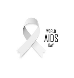 aids awareness gray ribbon world aids day concept vector image