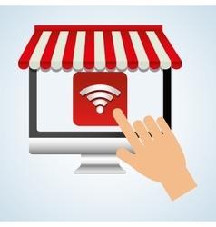 App design technology social media vector image