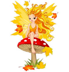 autumn fairy vector image