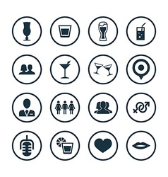 Bar icons universal set vector