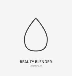 Beauty blender flat line icon makeup sign vector