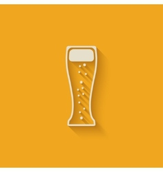 Beer glass design element vector