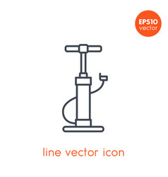 bicycle pump icon on white linear style vector image