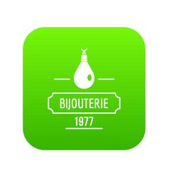 Bijouterie icon green vector