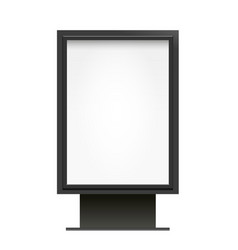 Blank billboard lightbox mock up isolated vector