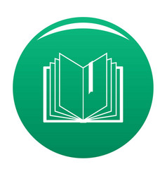 book bookmark icon green vector image