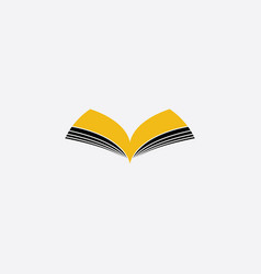 book logo symbol sign element vector image