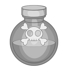Bottle of poison icon black monochrome style vector