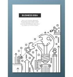 Business Idea - line design brochure poster vector