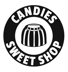 candies sweet shop logo simple black style vector image
