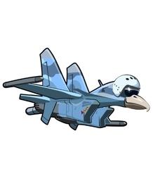 Cartoon jetbird 4 vector