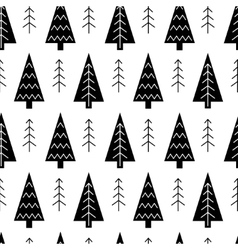 Christmas tree and snowflake seamless vector