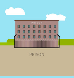 colored prison building vector image