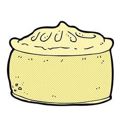 Comic cartoon pie vector