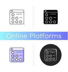 consumer review networks icon vector image