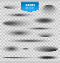 creative of round oval shadow vector image
