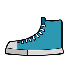 Cute blue boot cartoon vector