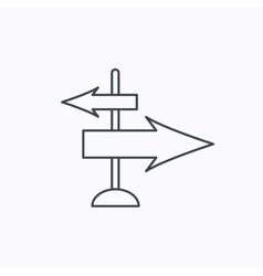 Direction arrows icon Destination way sign vector
