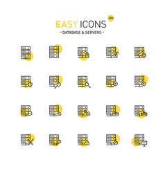 Easy icons 28d database vector
