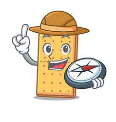 Explorer graham cookies mascot cartoon vector