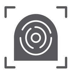 Fingerprint scanner glyph icon security finger vector