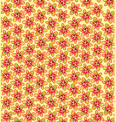 Floral seamless pattern flower bloom background vector