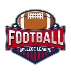 Football college league emblem template vector