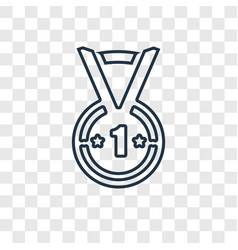 football medal concept linear icon isolated on vector image