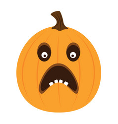 funny cartoon pumpkin isolated halloween vector image