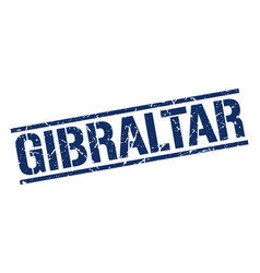 Gibraltar blue square stamp vector
