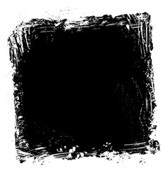 grunge paint frame vector image