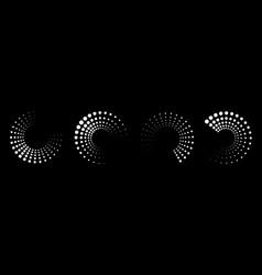 halftone circle dots frame set halftone pattern vector image