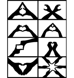 hand signs collage vector image