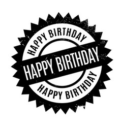 Happy birthday rubber stamp vector