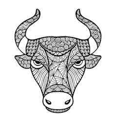 Head Buffalo style zentangle vector