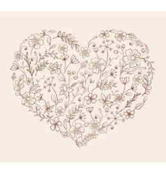 Heart of the flower pattern vector