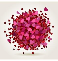 Hearts explosion vector