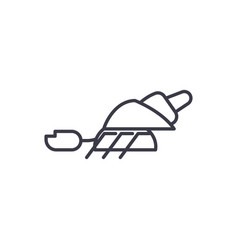 hermit crab line icon sign vector image