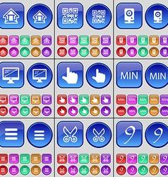 House QR-code Speaker Monitor Hand MIN Apps vector