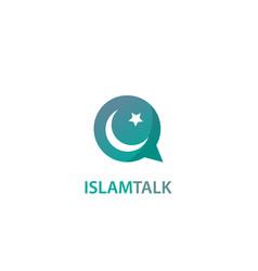 Islam talk logo vector