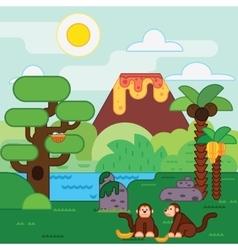 Island jungle Tropical landscape vector image