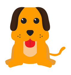 isolated stuffed dog toy vector image