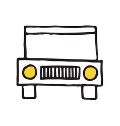 jeep travel hand drawn outline doodle icon vector image