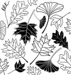 leaf sketch doodle set 3 vector image