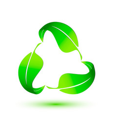 leafs recycling organic logo vector image