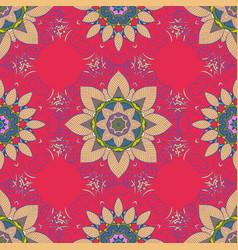 Luxury floral pattern round flower ornament vector